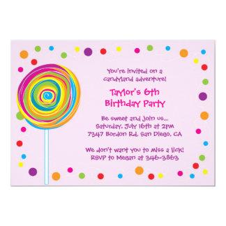 Lollipop Invitations