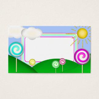 Lollipop land business card