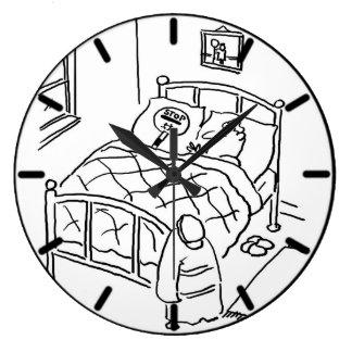Lollipop Man is Sleeping with his Lollipop Large Clock
