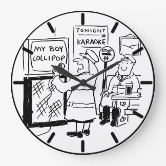 Lollipop Man & Lollipop Lady Karaoke Large Clock