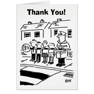 Lollipop Man Thank You! Card