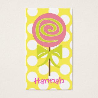 Lollipop Polka Dot Gift Calling Cards