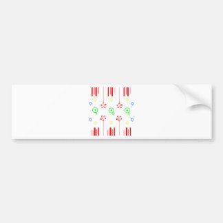Lollipop red flowers bumper sticker