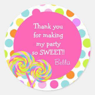 Lollipop Sweet Shoppe Favor Stickers
