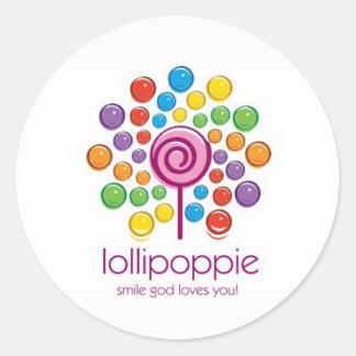 Lollipoppie - Smile God Loves You! Classic Round Sticker