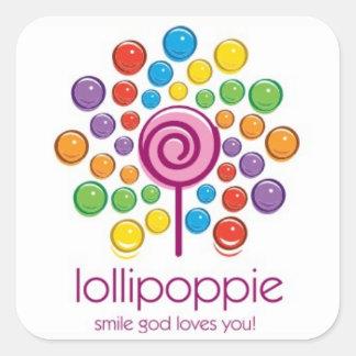 Lollipoppie - Smile God Loves You! Square Sticker