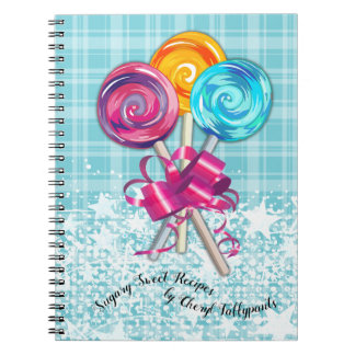 Lollipops candy confection recipe notebook