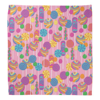 Lollipops Candy Pattern Bandana