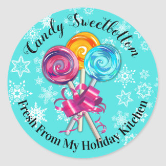 lollipops from the kitchen of Christmas sticker