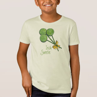 Lollipops Shamrock Irish Sweetie Kid T-Shirt
