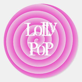 Lollypop Classic Round Sticker