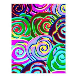 lollypop pattern letterhead template