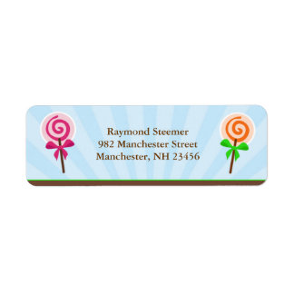 Lollypop Return Address Labels