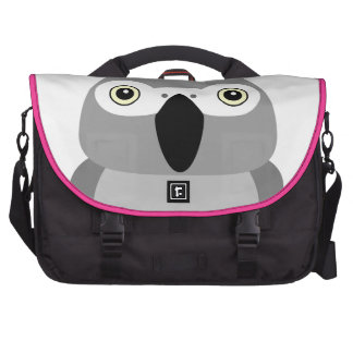 Lolo, the African Grey parrot character Bags For Laptop