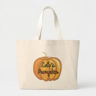 Lolo's Pumpkin Large Tote Bag