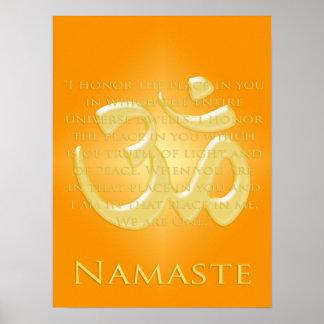 L'OM en oranges et or - Namaste Posters