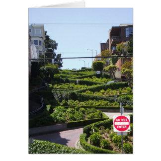 Lombard St San Francisco Card