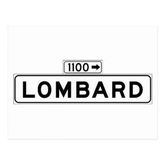 Lombard St., San Francisco Street Sign Postcard