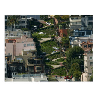 Lombard Street In San Francisco Americas Crookedes Postcard