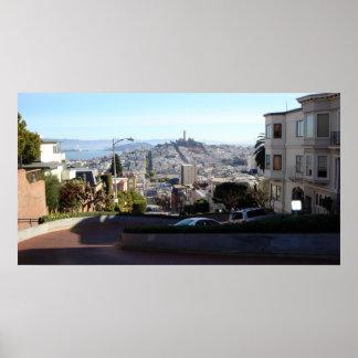 Lombard Street Panoramic Poster