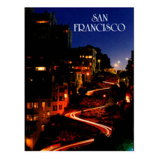 Lombard Street San Francisco Postcard
