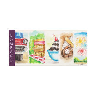 Lombard Summer Banners Gallery Wrap Canvas