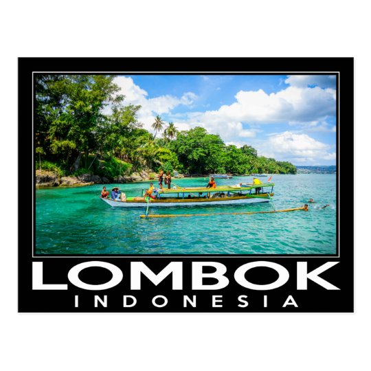 Lombok Indonesia Postcard
