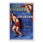 Lon Chaney Joan Crawford l'annonce inconnue Poster