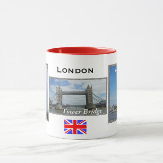 London 3-panel Red London Combo Mug