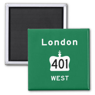 London 401 square magnet