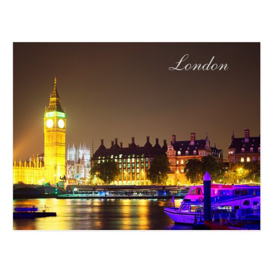 London and Big Ben Post card