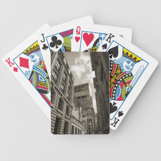London architecture. bicycle playing cards