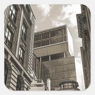 London architecture. square sticker