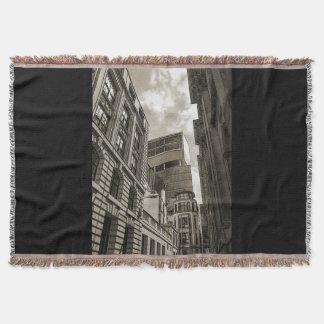 London architecture. throw blanket