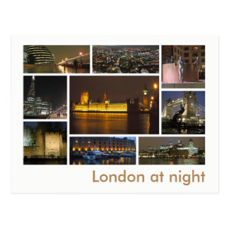 London at night multi-image postcard