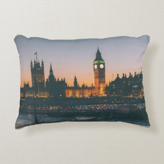 London at Night Pillow