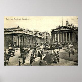 London, Bank of England, 1918 Vintage Print