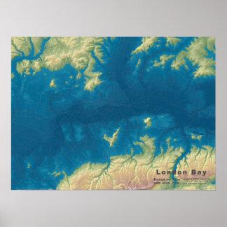 London Bay, 66m Sea Rise Poster