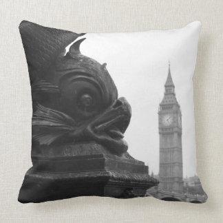 London Big Ben and Thames Throw Pillow