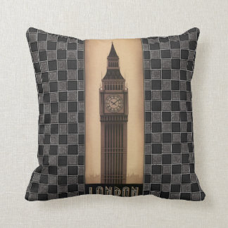 London Big Ben Classic Vintage Retro Design Throw Pillow