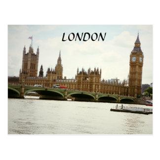 London Big Ben Parliament and Thames Postcard