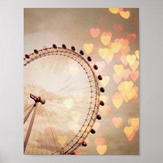 London | Big Ben Photograph Filtered Nightime Poster