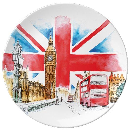 London Big Ben Plate Porcelain Plate