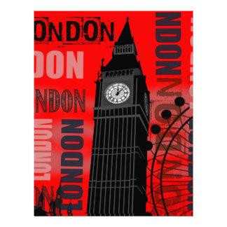 London Big Ben Red Modern Travel Collage Custom Letterhead
