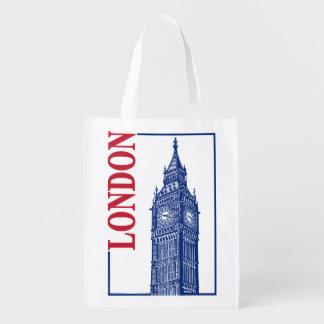 London-Big Ben Reusable Grocery Bag