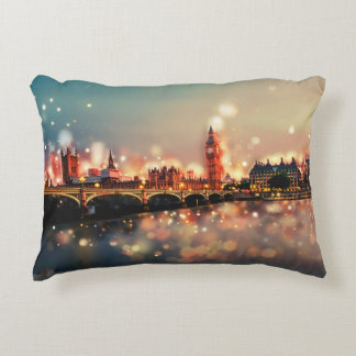 London, Big Ben, Tower Bridge Decorative Pillow