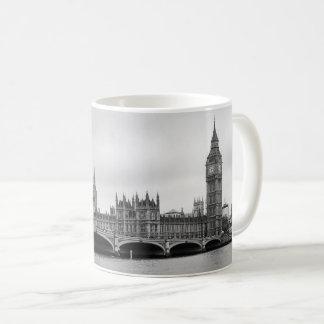 London Black and White Coffee Mug