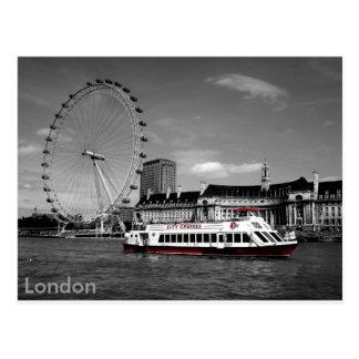 London black and white postcard
