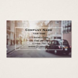 London Black Car Taxi Cab Business Card