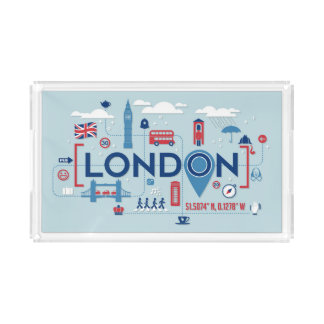 London Blue & Red Icons Perfume Tray